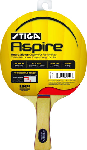 Sage Arcade STIGA Aspire Table Tennis Racket Ping Pong Paddle Ping Pong STIGA