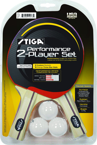 Sage Arcade STIGA Performance 2-Player Table Tennis Racket Ping Pong Paddle Set Ping Pong STIGA