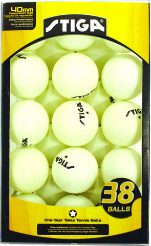 Sage Arcade STIGA One-Star Table Tennis Ping Pong Balls 38-Pack Ping Pong STIGA