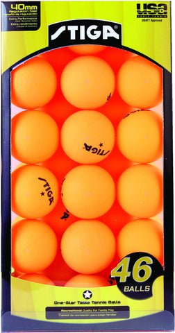 Sage Arcade STIGA One-Star Table Tennis Ping Pong Balls 46-Pack Ping Pong STIGA
