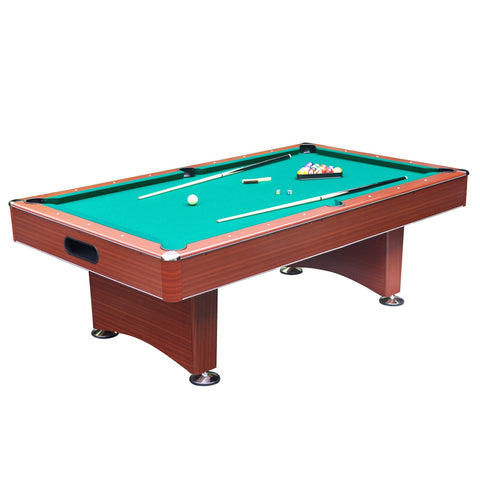 "Sage Arcade Carmelli Hathaway Sports Newport 8-ft Deluxe Pool Table Internal Return 1"" MDF BG2522PG Billiard Table The Hathaway Sports"