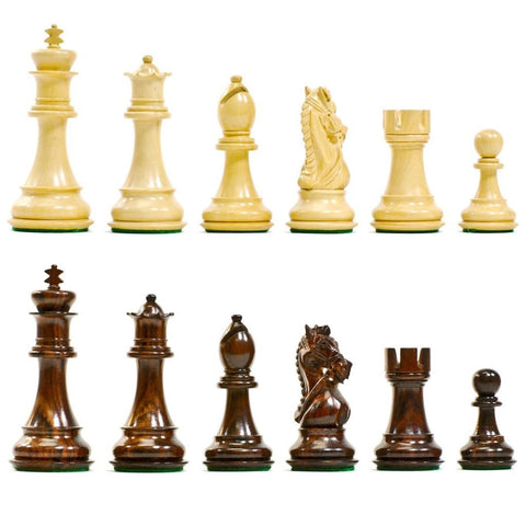 Sage Arcade King's Bridle Wooden Chess Pieces Rosewood or Ebonized Chess WBG
