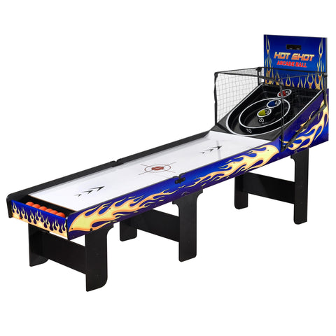 Sage Arcade Hathaway Sports Hot Shot 8‑ft Arcade Ball Table, Silver Game Table The Hathaway Sports