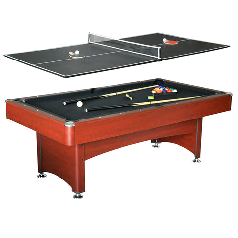 Sage Arcade Carmelli NG4023 Bristol 7‑ft Pool Table w/ Table Tennis Top Billiard Table Carmelli