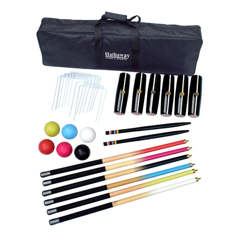 Sage Arcade Hathaway Sports Deluxe 6-Player Croquet Set Outdoor Games The Hathaway Sports