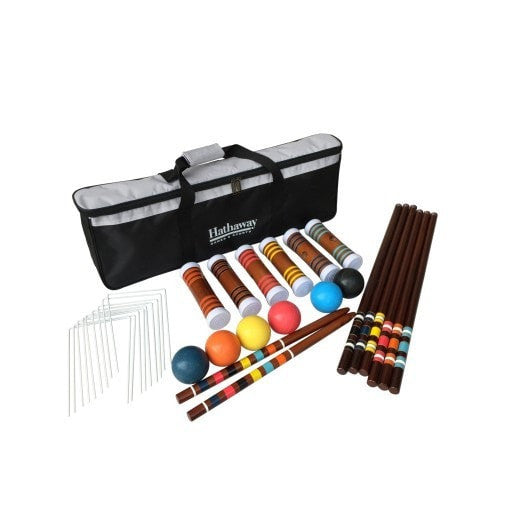 Sage Arcade Hathaway Sports Six-Player Croquet Outdoor Games The Hathaway Sports