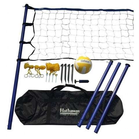 Sage Arcade Hathaway Sports Portable Volleyball Net System Outdoor Games The Hathaway Sports