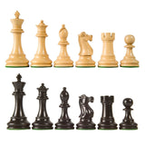 Sage Arcade British Chess Pieces Rosewood, Sheesham, or Ebonized Chess WBG