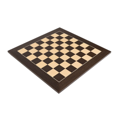 "Sage Arcade Deluxe Wenge Wood Chess Board with 2.125"" Squares Chess WBG"