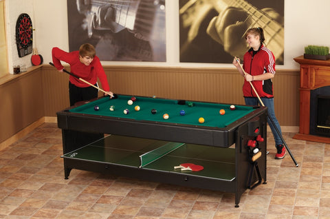 ... Sage Arcade Fat Cat Original 7 Foot 2 In 1 Billiards Air Hockey Pockey  ...