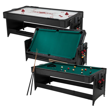Sage Arcade Fat Cat Original 7 Foot 2-in-1 Billiards Air Hockey Pockey Table Multi-Game FAT CAT