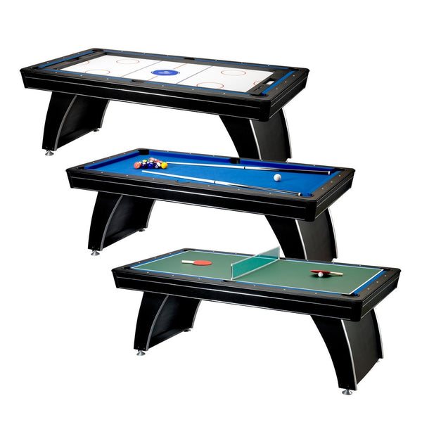 Sage Arcade Fat Cat Phoenix MMXI 7' 3-in-1 Billiards Air Hockey Ping Pong Multi-Game Table Multi-Game FAT CAT