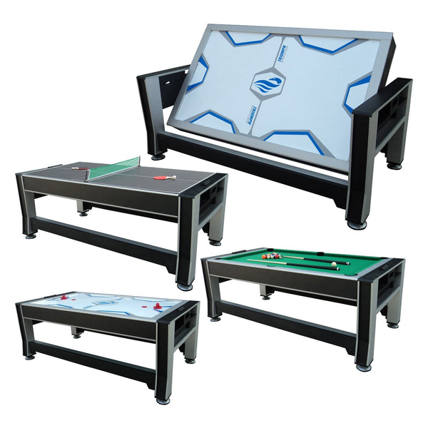 "Sage Arcade Triumph 84"" 3-in-1 Rotating Billiards Air Hockey and Ping Pong Table Multi-Game Triumph"