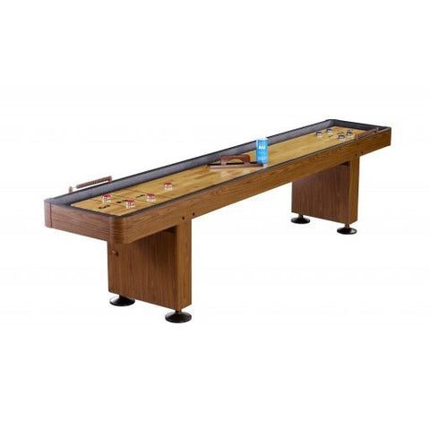 Sage Arcade Carmelli Challenger Shuffleboard Table Walnut or Cherry Finish Shuffleboard Tables Carmelli