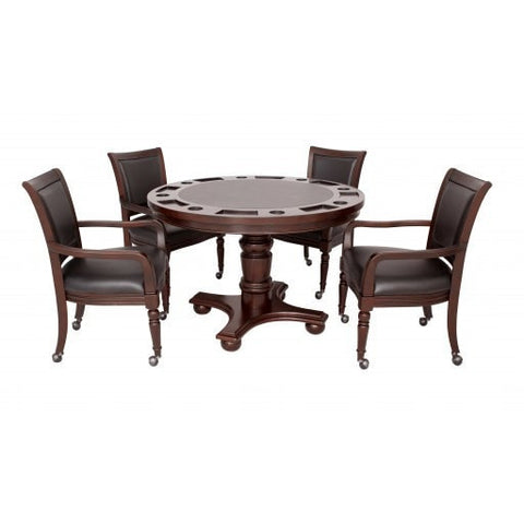 Sage Arcade Hathaway Bridgeport 2-in-1 Poker Game Table Set Poker Carmelli