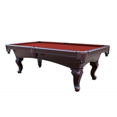 Sage Arcade Monterey 8' Mahogany Slate Pool Table Red, Burgundy, Black, Camel, Green Pool Tables Carmelli