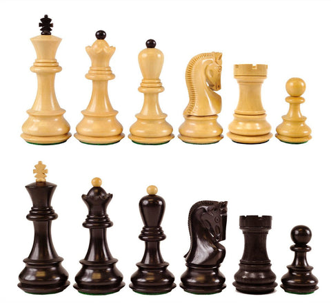 Sage Arcade Zagreb Wood Chess Pieces Ebonized Chess WBG