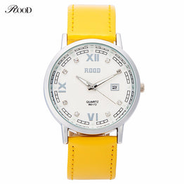 Fashion Luxury Quartz 6 Color Leather Strap Bracelet Watch for Women