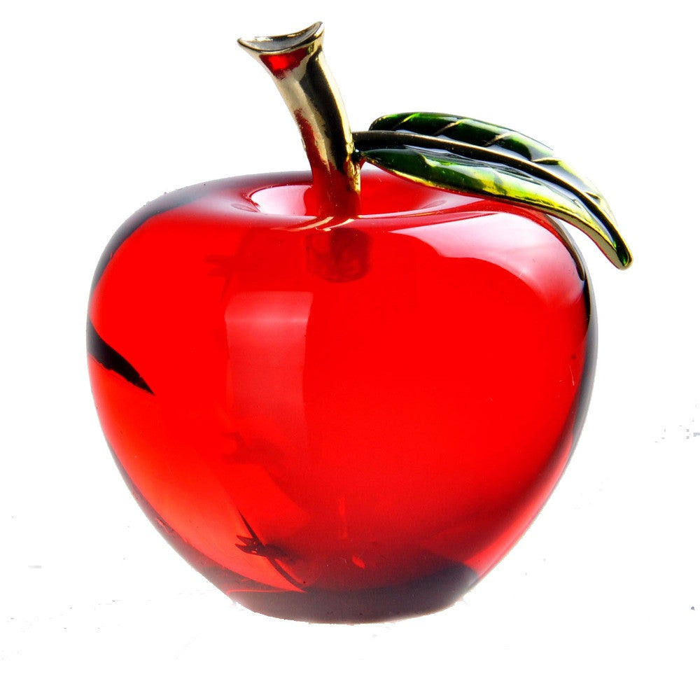 Crystal Apple Red 2.2'' Paperweight Glass Pretty Gifts Crafts Art&Collection Wedding Gifts Decoration