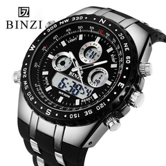 BINZI Brand Sport Men's Military Waterproof Wrist Watches