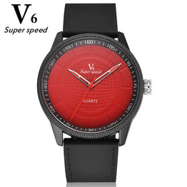 V6 New Hot Silicone Strap Quartz Outdoor Sports Watches