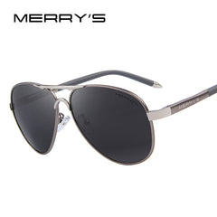 MERRY'S Men Classic Sunglasses HD Polarized Aluminum Luxury Shades UV400