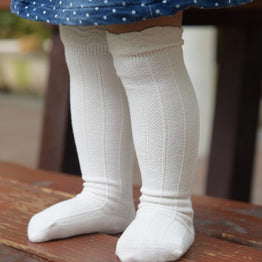 Summer Autumn 1Pair Baby Newborn Toddler Knee High Lace Sock