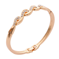 Austrian Crystal Rose Gold Plated Bracelet / Bangle
