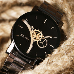 Kevin Unisex Round Dial Stainless Steel Band Watch