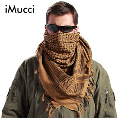 iMucci Men Winter Military Windproof Scarf Muslim Hijab Shawl Arabic Keffiyeh