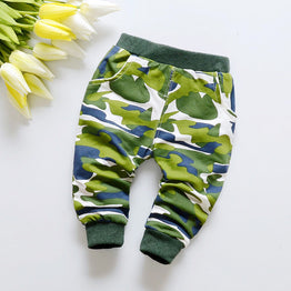 Hot selling spring military camouflage pattern baby pants