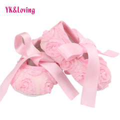 Cotton Lace Flower Design Baby Shoes