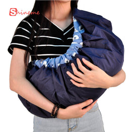 Side carry ergonomic newborn wrap baby carrier