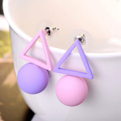 Candy Color Aiffry Triangle Earrings For Women