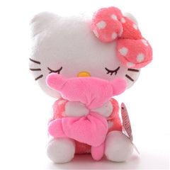 Soft Pink Dots Sleeping Hello Kitty Pillow Doll