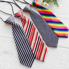 New Fashion Kid Neck Tie Children Baby Boy Party Striped Elastic Tie Necktie
