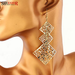 Gold / Silver plated Bohemian Handmade Long Drop Earrings for Women