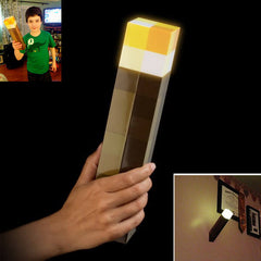 Light Up Minecraft Torch LED Hand Held or Wall Mount