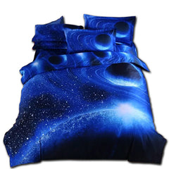 Moon Star Galaxy bedding sets twin full queen size 4pc duvet cover set