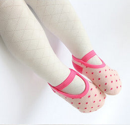 Infant Skid Resistance Dot Sock Baby Girl Casual Bandage Shoe Sock