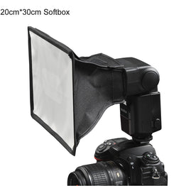 Photo Flash Speedlite 20cm x 30cm Universal Foldable Diffuser