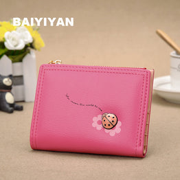 Hot PU Leather Wallets Ultra-thin Cards Holder Purse for Women