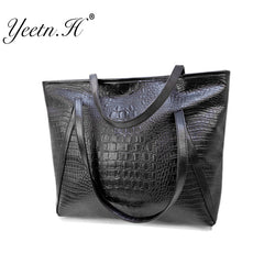 Hot Alligator Design Casual Leather Shoulder Bag for Women