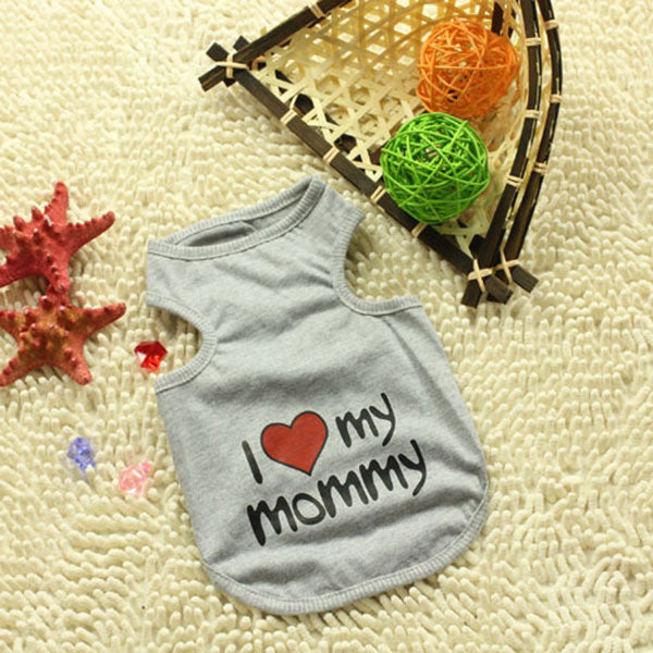 Pet Dog Shirt Clothes Cute Lovely Sweetheart Vest Shirts Clothing for Dogs Cats Pet Products