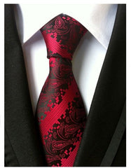 Vintage mens fashion tie polyester silk necktie dress business ties