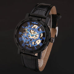 Winner Hot mechanical Brand Skeleton watches leather band