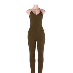 Summer Regular Casual Fashion V-Neck Sexy Rompers Womens Jumpsuit