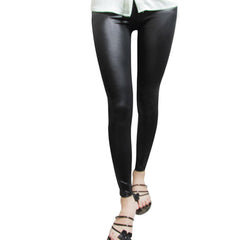 Women Leggings Leather High Quality Slim Fashion Plus Size Elasticity Sexy Pants black