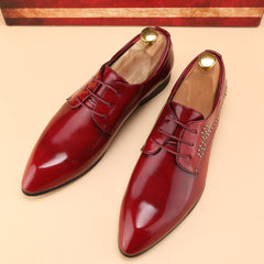 Luxury Ballet flats Glossy leather Oxford Shoes for Men