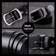 COWATHER 100% cowhide genuine leather belts for men